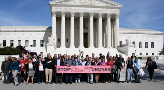 Drone Summit participants outside U.S. Supreme Court