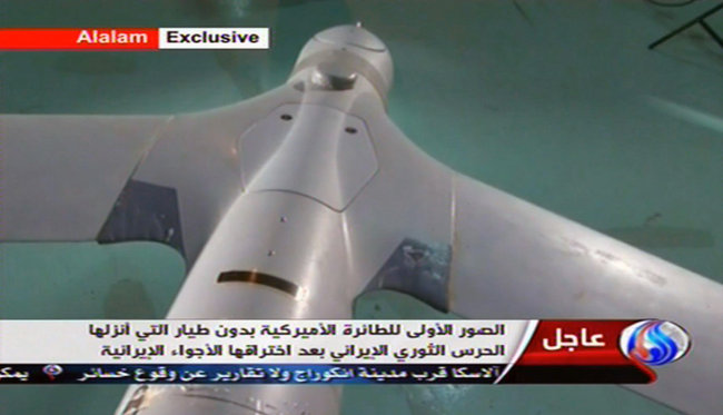 Iranian TV showed images of what was said to be a ScanEagle. The American Navy said none of its drones were missing.