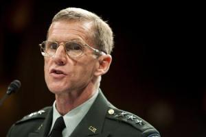 File photograph of Gen. Stanley McChrystal before the Senate Armed Services Committee in Washington DC