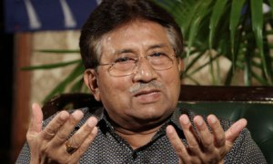 Pervez Musharraf returned to Pakistan last month after more than four years of self-imposed exile. Photograph: Fareed Khan/AP
